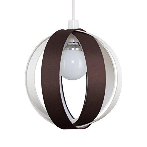 MiniSun - Moderna y divertida pantalla para lámpara de techo 'Cocoon' - marrón chocolate, redonda en forma de globo