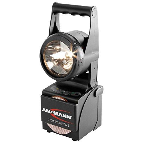feuerwehr handlampe ANSMANN Powerlight 5.1 Arbeitsscheinwerfer 5W - Robuste LED Arbeitsleuchte als Werkstattleuchte oder Notbeleuchtung bei Stromausfall - Handleuchte IP65 stoßfestes & wassergeschütztes Gehäuse