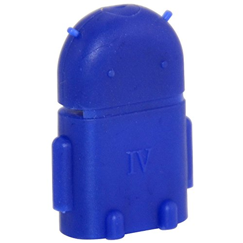 Robot Micro USB Host OTG Adapter Konverter Android für Samsung Galaxy HTC Blau (Pin Seymour)
