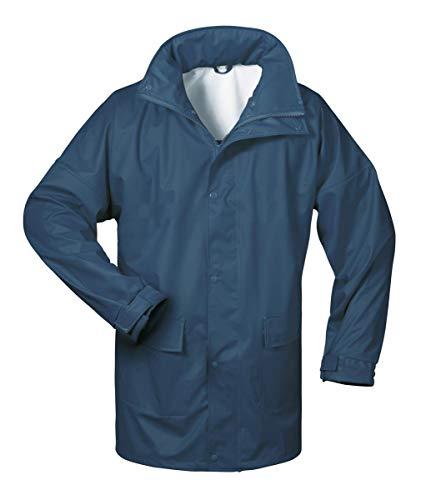 Norway PU Regen-Jacke mit Kapuze - Marine - Größe: L Kapuze Jacke Hose