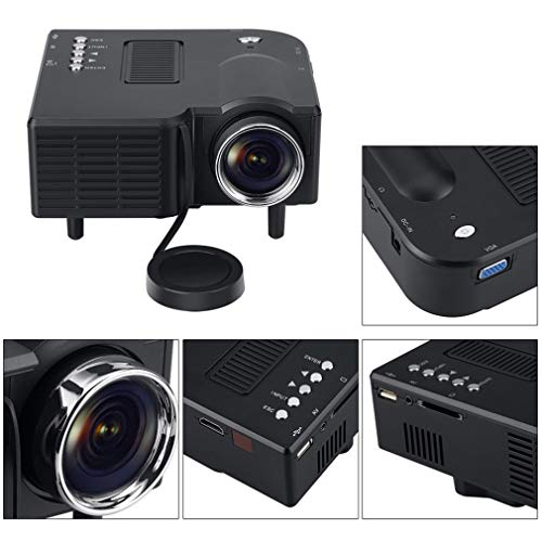 Mini LED 3D Projector 1080P HD Multimedia Home Theater VGA USB HDMI WL-28 Color black