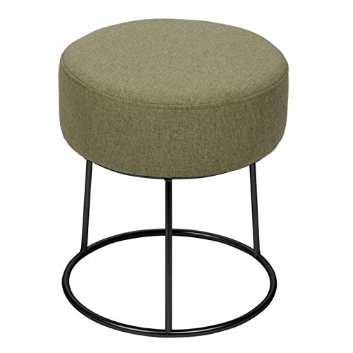 TABLE PASSION - Pouf Jasper 40 cm Taupe