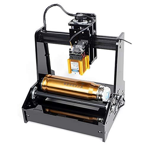 ETE ETMATE DIY zylindrische Lasergravierer-Drucker-Maschine, 15W USB Lasergravur-Drucker-Arbeitsbereich 100 x 200 mm, tragbare Dosen Edelstahl Cola Tischplattenschneider für win7, win8, win10, winXP