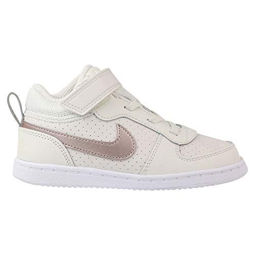 on sale 54c11 1ef4d Nike Baby Mädchen Court Borough MID Sneaker Mehrfarbig (Phantom MTLC Red  Bronze-White 007) 27 EU