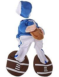 Xuniu Traje de Mascota Ropa de Halloween Ropa Divertida Deporte Perro Gato Ropa de Cosplay Rugby 20-25 cm