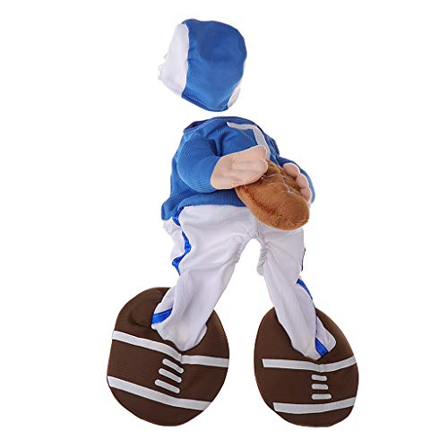 Xuniu Pet Kostüm Kleidung Halloween Lustige Kleidung Sport Hund Katze Bekleidung Cosplay Rugby 20-25 cm