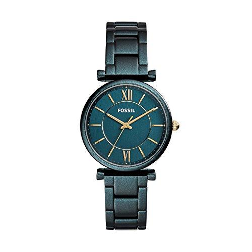 Fossil Damen Analog Quarz Uhr mit Edelstahl Armband ES4427