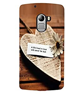 ColourCraft Love Heart Quote Design Back Case Cover for LENOVO A7010