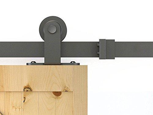 kinmade matt schwarz Vintage Kate Schiebetür Barn Hardware-Kit 10FT matte black