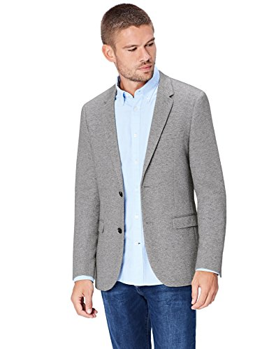 FIND Americana para Hombre, Gris (Grey), Large (Manufacturer size: 42R)