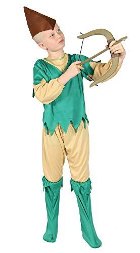 Jungen Hood Robin Für Kostüm - Foxxeo Bogenschützen Kostüm für Kinder Karneval Fasching Mittelalter Robin Jungen Größe 98-104