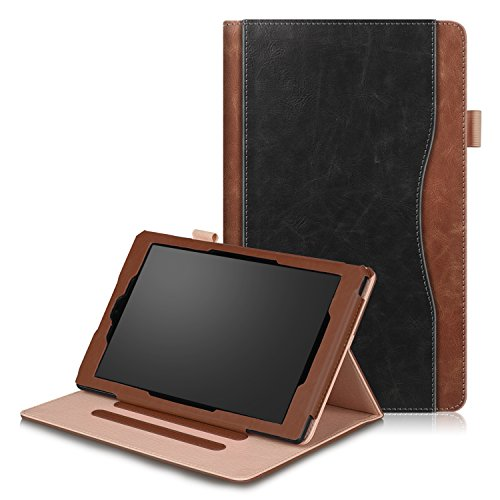 SOUNDMAE Hülle Für Fire HD 10 Tablet (7. Generation - 2017/5. Generation - 2015), Ultra Slim Schutzhülle mit Auto Schlaf/Wach und Ständer für Fire HD 10 (10-Zoll-Tablet, 7. Gen/5. Gen) – Klassisch