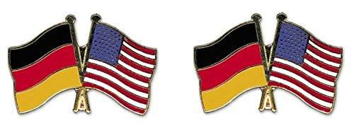 Yantec Freundschaftspin 2er Pack Deutschland USA Pin Anstecknadel Doppelflaggenpin