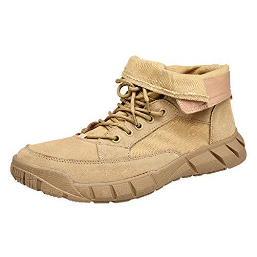 Stivali Classici Uomo, MEIbax Stivali Casual Stivaletti Boots Scarpe da Lavoro Stivaletti Casual Scivolare Classico Passeggio All'aperto