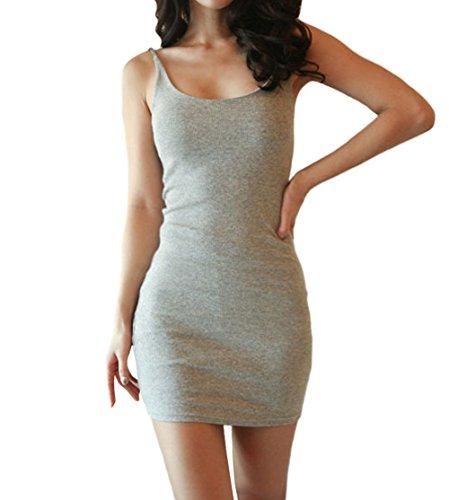 Deley donne sexy senza maniche spaghetti strap partito mini club aderente vestito estivo gilet abito corto grigio taglia 2xl