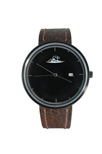 Easy Eagle - Dark Vienna Herren Armbanduhr Quarzuhr Schweizer Uhrenwerk Leder elegantes Design + kostenloses Ersatzband! - Dark Eagle