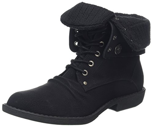 Blowfish Damen Alexi Biker Boots, Black (Blk Saddle Rock PU), 39 EU (Over Ankle Fold Boot)