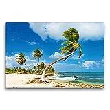 Calvendo Premium - Tela in Tessuto, 75 x 50 cm, Soggetto: Barca sulla Costa Maya, Quintana Roo, luoghi del Messico