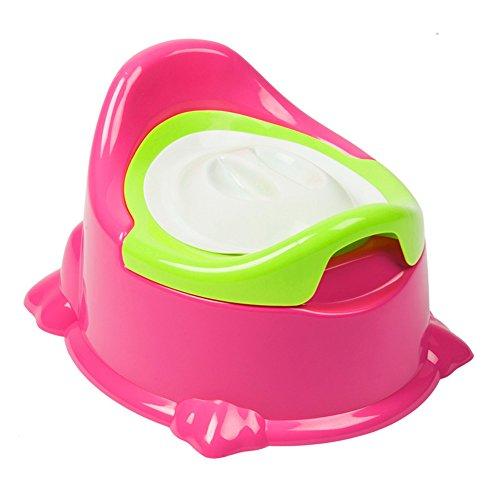Homyy Baby-Töpfchen, Stuhl, Kinder, WC-Sitz, mit Abdeckung, Musik, Training, faltbar, rosarot, Free Size (Musik Töpfchen-training)