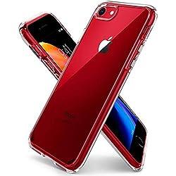 Spigen Coque iPhone 7, Coque iPhone 8/7, [Ultra Hybrid 2eme Generation] AIR Cushion [Crystal Claire] Clear Back Panel + TPU Bumper Coque pour iPhone 7 (2016) et iPhone 8 (2017) - (042CS20927)
