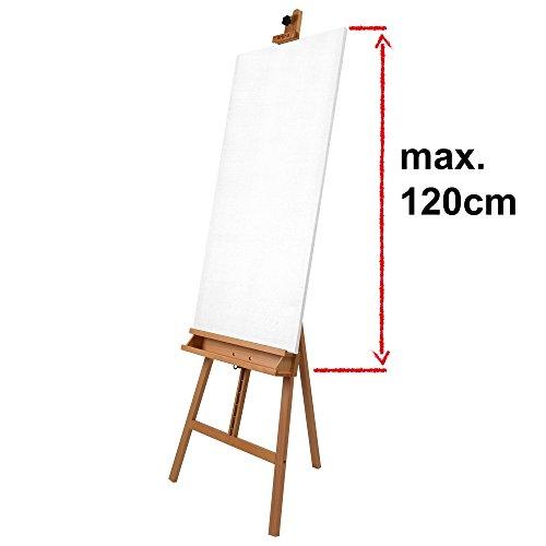 29-tlg. Artina Staffelei Malset Barcelona Buche inkl. 18 Acrylfarben 2 Leinwände 5 Pinsel 3 Malmesser für viel Malspaß - 6
