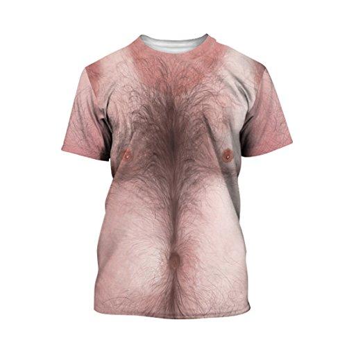 SEVENWELL 3D t-Shirt Gedruckt Top t-Shirt Cartoon Neuheit Body Print t-Shirt XL Haarige - Sperries Jungen