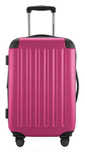 HAUPTSTADTKOFFER® 49 Liter Handgepäck · SPREE · TSA · MATT · NEU 4 Doppel-Rollen · (in 12 Farben) + LogiLink® Flugzeug Audio Adapter (Magenta) -