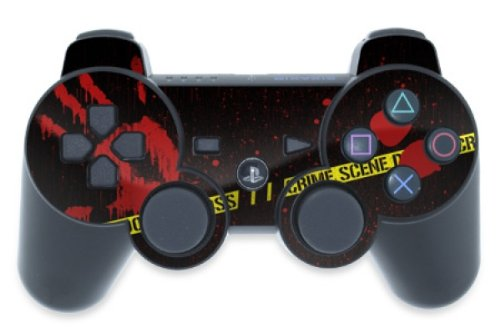 PS3 ULTIMATE MANETTE RAPID FIRE DUAL SHOCK 3 RAPIDFIRE CRIME DESIGN
