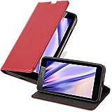 Cadorabo Custodia Libro per Nokia Lumia 640 XL in Rosso Mela - con Vani di Carte, Funzione Stand e Chiusura Magnetica - Portafoglio Cover Case Wallet Book Etui Protezione