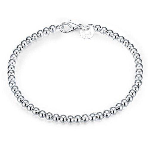 Donne Uomini Hollow palline Buddha perline braccialetto placcato argento Bracciale catena corpo gioielli braccialetto