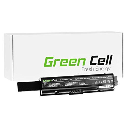 Green Cell Extended Serie Laptop Akku für Toshiba Satellite A200-1VF A300-15P A500-1H5 L555-10M Satellite Pro L300-1FO L500-1T2 (9 Zellen 6600mAh 10.8V Schwarz) - A200 Series Laptop
