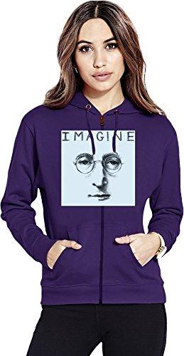 Preisvergleich Produktbild John Lennon I Imagine Womens Zipper Hoodie Large