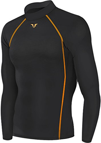 new-200-colore-nero-pantaloni-aderenti-da-corsa-a-compressione-strato-base-maglietta-sportiva-da-uom