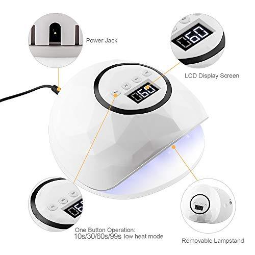 LJUNSEG secador uñas Lámpara UV LED 86W Secador