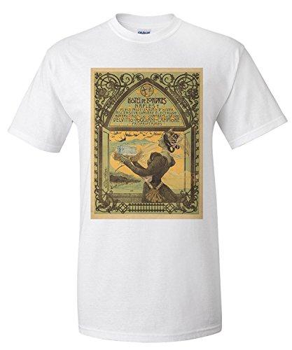 Hotel de Londres Vintage Poster (artist: Mataloni) Italy c. 1897 (Premium T-Shirt)
