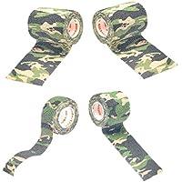 KESOTO 4 Stü Camouflage Non Woven Selbstklebende Cohesive Wrap Bandage Rolls preisvergleich bei billige-tabletten.eu