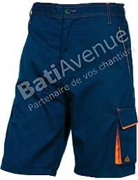 Delta plus - Bermuda panostyle poliester algodón marino naranja talla -l