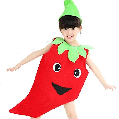Wgwioo Kinder Welt Früchte Und Gemüse Kollektion Kinderkostüm Schule Spiel Party Kleidung Modellierung Leistung Kindergarten Umwelt Mode Show Tanz-Sets , 3# , (Tanz Kostüme Modellierung)