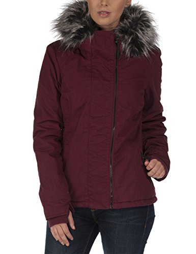Bench - Jacke Kidder III, Giacca Donna, Rosso (Zinfandel), X-Large (Taglia Produttore: X-Large)