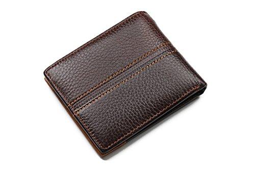 Geldbörsen Herren | Leder Geldbörse | RFID Schutz | Wallet | Portemonnaie | Brieftasche | Portmonee | Geldbeutel | Vintage Geldsack | Kartenhalter | Kartenetui | Geldklammer von GUBINTU (B) B