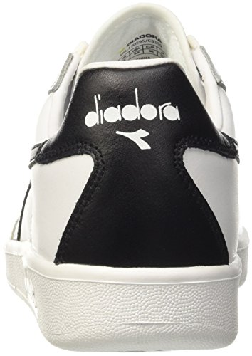 Diadora B.elite, Pompes à plateforme plate mixte adulte Bianco (Bianco/Nero/Bianco)