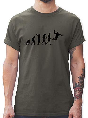 Evolution - Handball Evolution Herren - 3XL - Dunkelgrau - L190 - Tshirt Herren und Männer T-Shirts