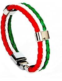 Accessoire Pour Femmes Calonice Amorino Bracelet PU à la mode en Corde Avec Fermoirs Argentés Rouge Blanc Vert Taille Unique 7x1x6 cm (LxHxl) 15100