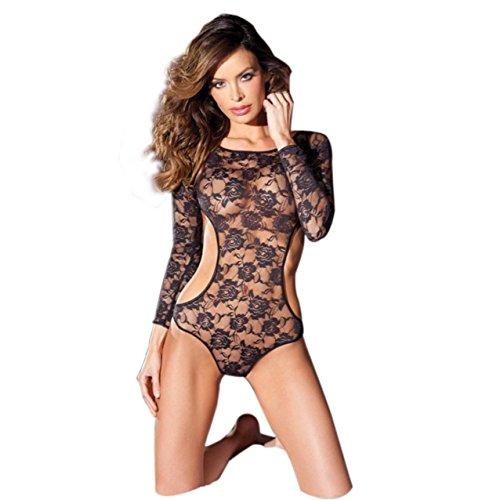 LHWY Donna Cava A Pacchetto Hip Bodystockings Body A Rete (Black)