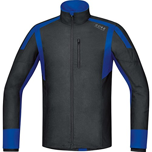 Gore Running Wear Air Windstopper JWTAIR996007 - Camiseta de manga larga para hombre, color negro / azul, talla XXL