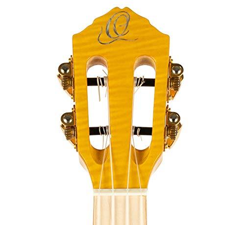 ORTEGA Prism Series - Ukulele tenore + custodia imbottita DeLuxe, tavola e fasce in acero, tastiera e ponte in legno di tequila Sunburst