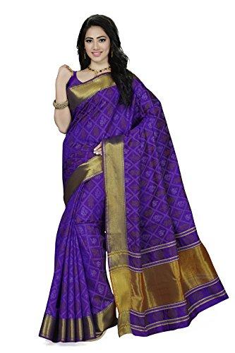 Rani Saahiba Patola Style Art Silk Saree ( SKR3145_Royal Blue )