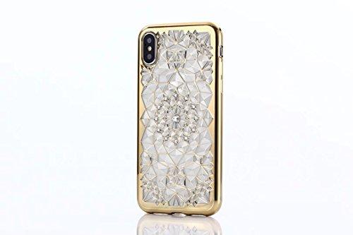 Cover iPhone 6 PLUS Silicone ultra trasparente sottile TPU morbido Custodia Modello di arte cover-panda A-gold
