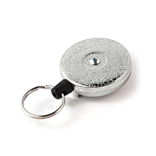 Key-BAK KB 3 Schlüsselrolle stabil Edelstahlkette 60cm mit Clip Chrom, KB 3 Chrom Chrom Hard Case