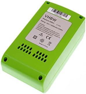 Vhbw Li-Ion Batteria 5000mAh 5000mAh 5000mAh per utensile elettrico verdeworks 20-Inch Cordless Pole Hedge Trimmer sostituisce 29322, 29807. | Ideale economico  | Costi medi  | Le vendite online  98f3e4